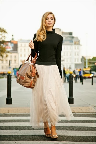 Modest tulle maxi length skirt | Mode-sty tznius hijab