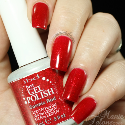 IBD Just Gel Polish Cosmic Red Swatch