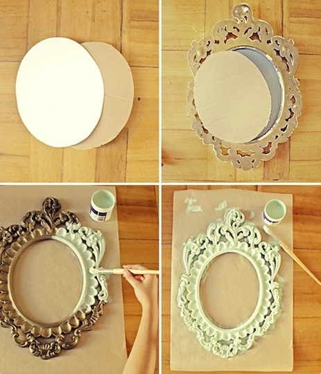 Manualidades for Como hacer un espejo con marco de madera