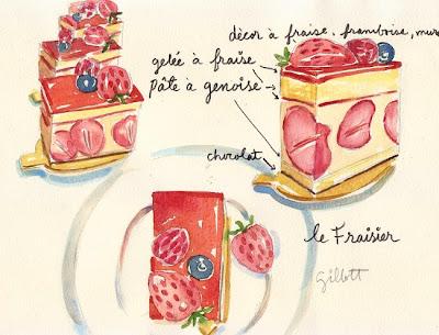 Almondine Bakery Fraisier by Carol Gillott