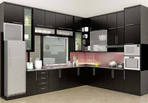 Harga kitchen set aluminium per meter images for Harga kitchen set minimalis per meter