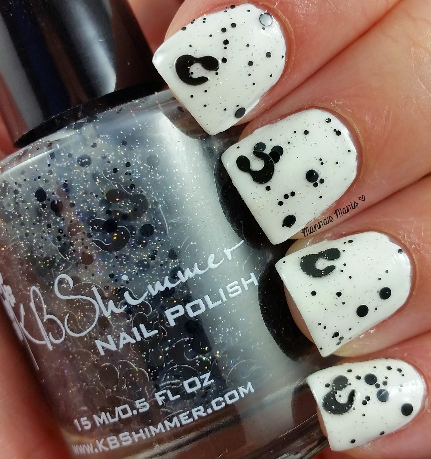 kbshimmer spot sign, a leopard glitter nail polish
