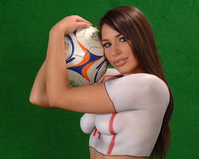 art green field body paint world cup 2014