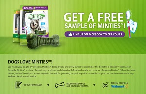 Free Dog Dental Treat from Minties