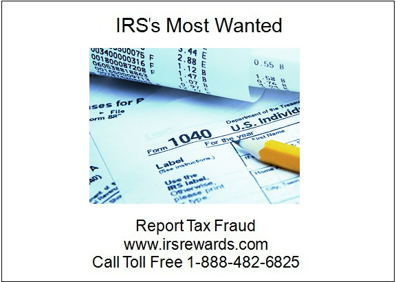 Irss Most Wanted Report Tax Fraud February 2012