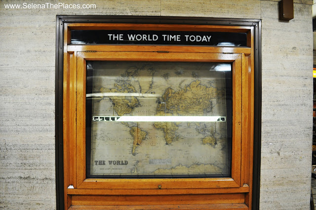 The World Time Today Clock in Piccadilly Station London