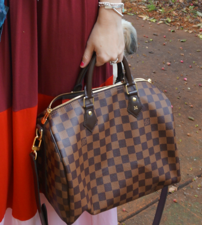 Louis Vuitton damier ebene brown speedy bandouliere bag