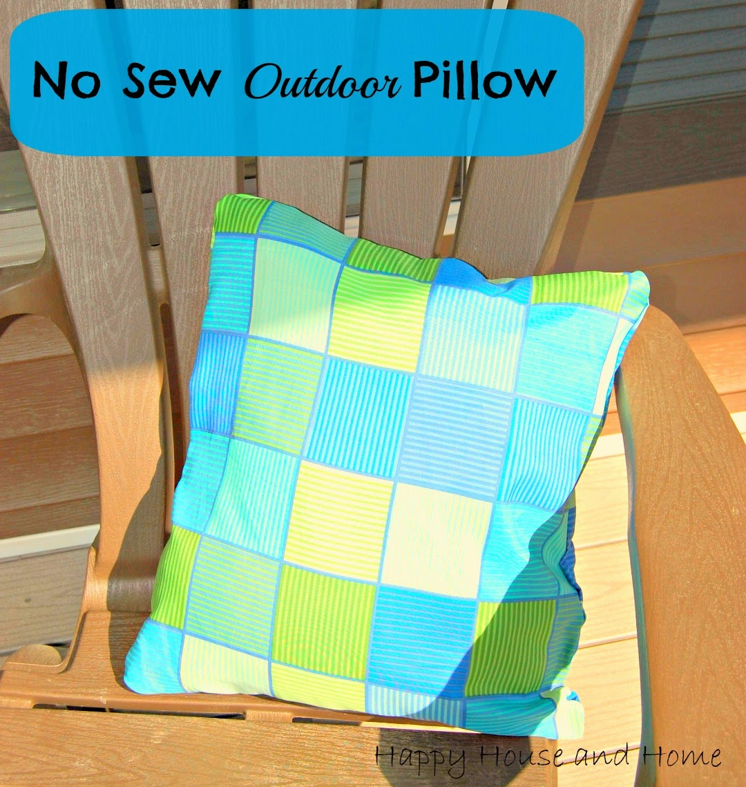 no-sew projects, no-sew pillow, no-sew outdoor pillow, diy pillows, outdoor decor