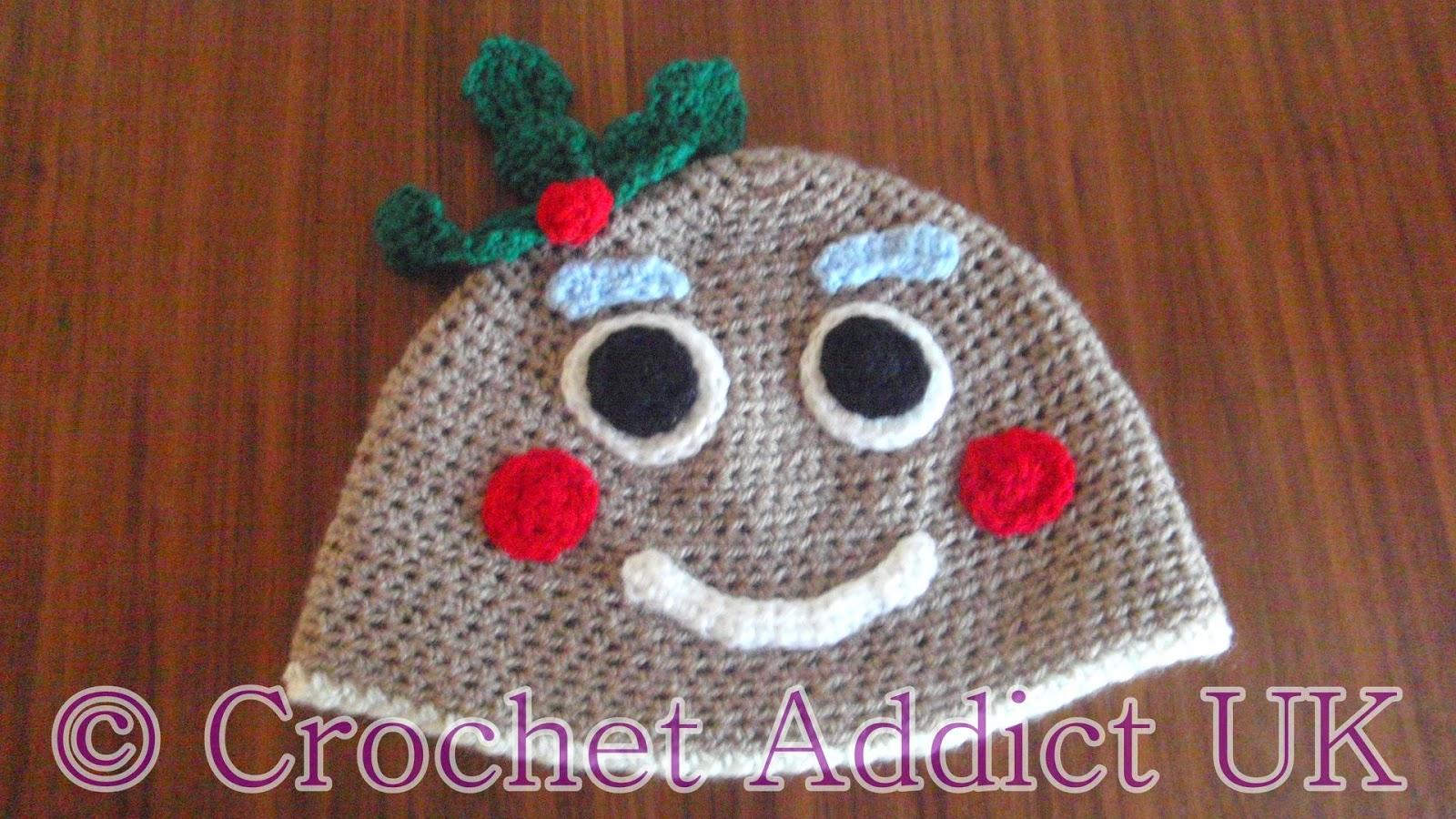 Free Crochet Pattern For Gingerbread Man Hat : #Gingerbread Man #Beanie #Hat 1 yr+ ~ #Free #Crochet # ...