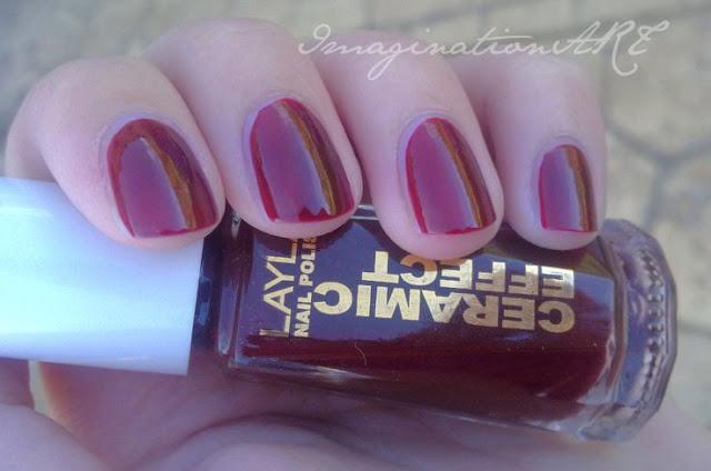 layla ce14 ceramic effect 14 rosso rubino swatch smalto unghie nail polish lacquer