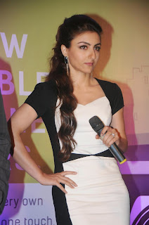 Soha Ali Khan In a Black and White Dress At Ola Cabs Smart App Launch In Palladium, Mumbai