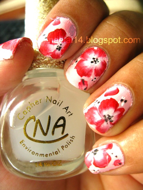 Nail Stash My First One Stroke Technique Hibiscus Flower