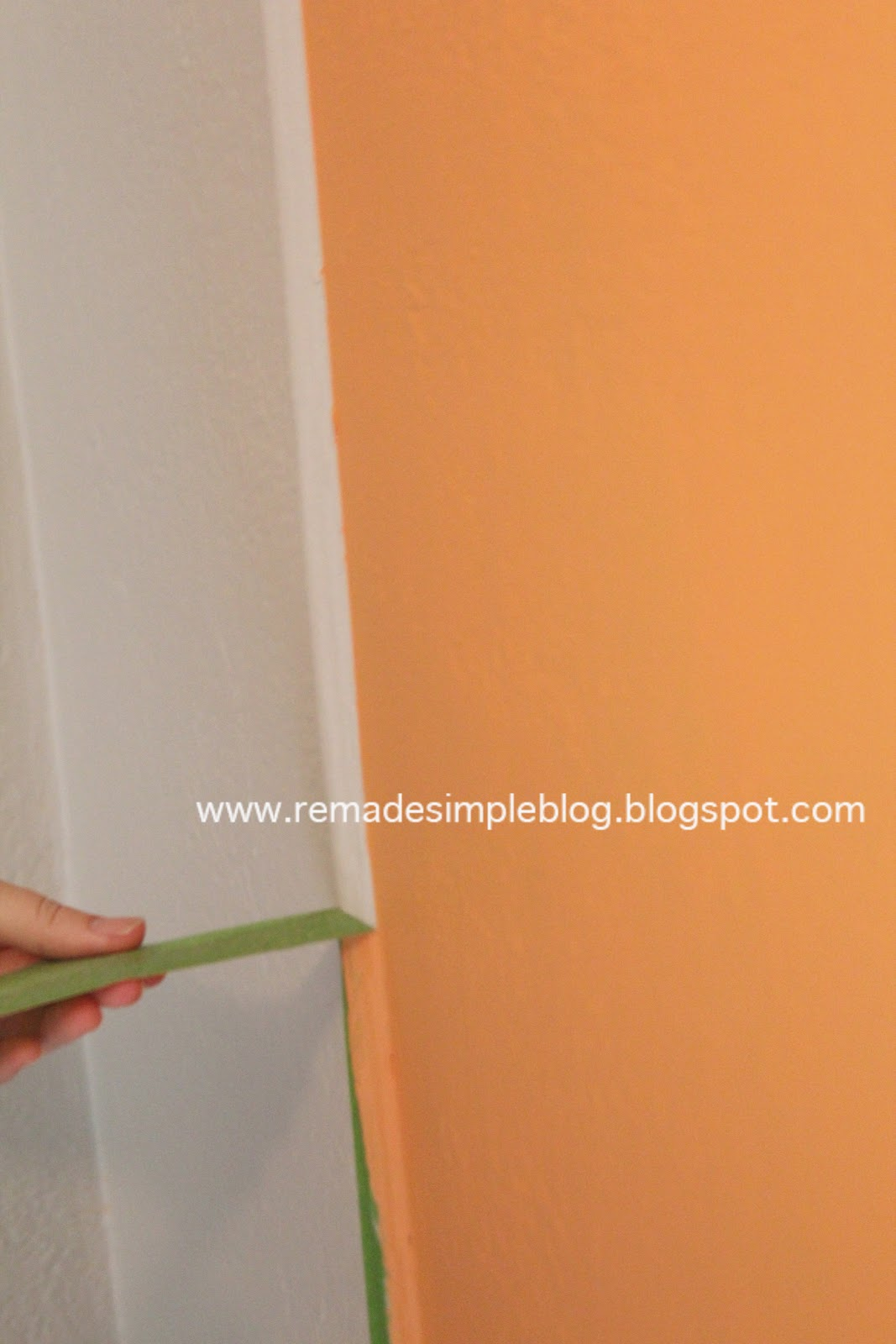 ReMadeSimple How to Paint a Straight Line on a Textured Wall