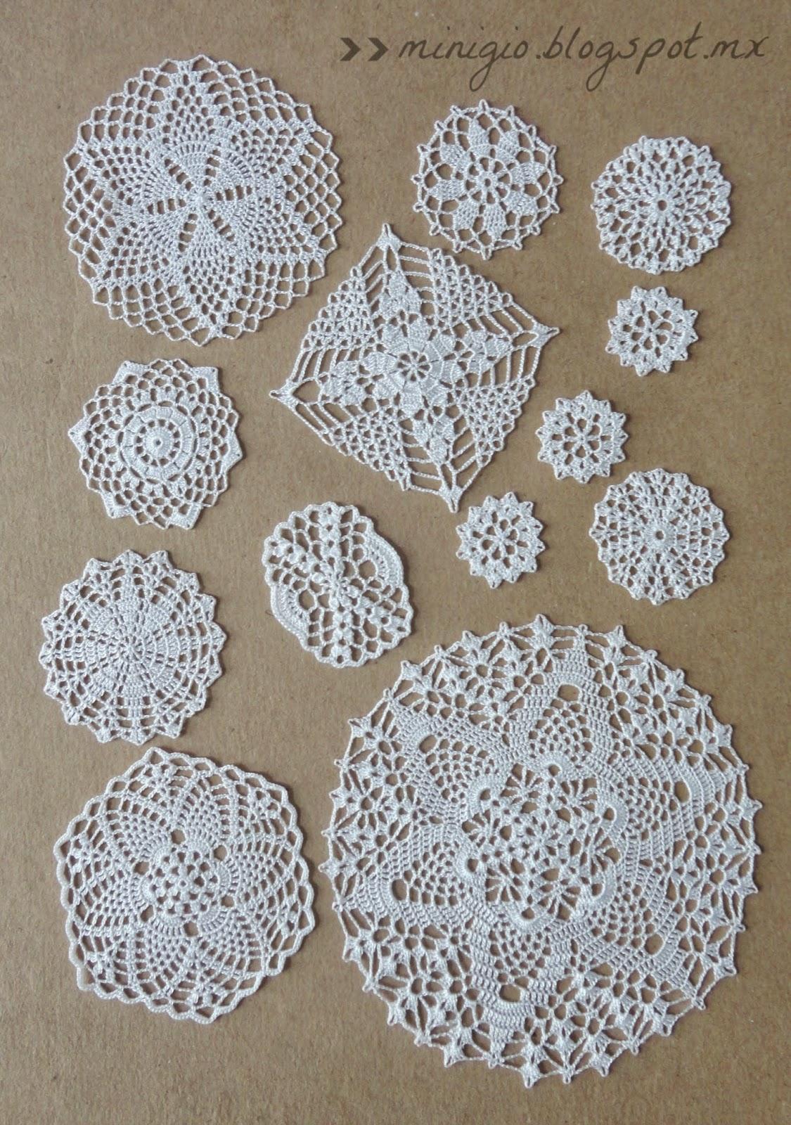 Miniature crochet doilies