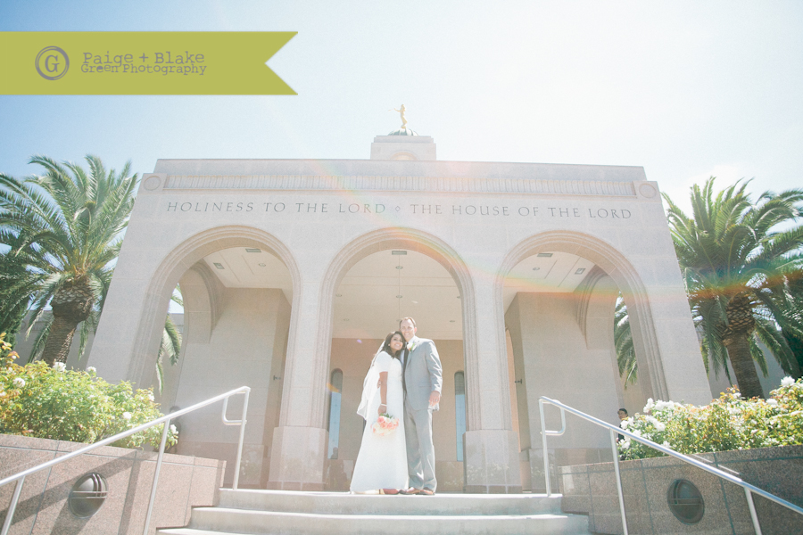 Newport Beach LDS Temple Wedding : Photo by Paige and Blake Green