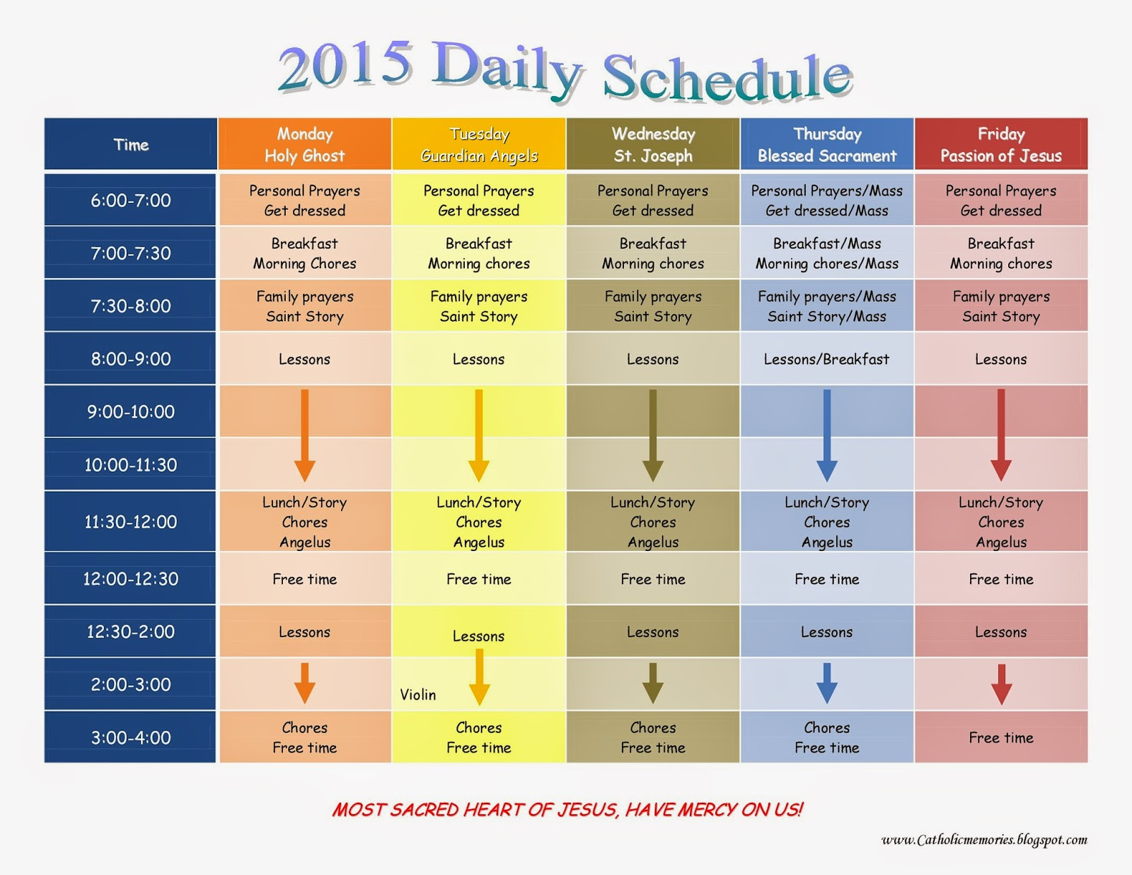 568134 on 2015 1st Grade Homeschool Schedule