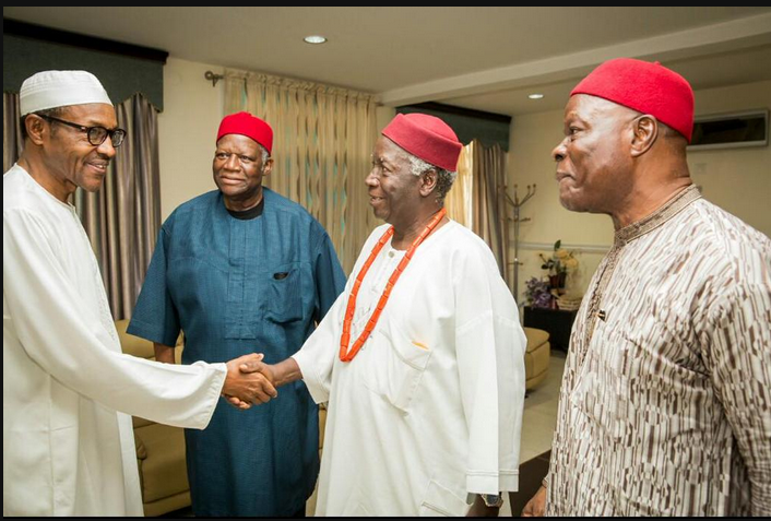 Buhari and Ndigbo leaders in Abuja