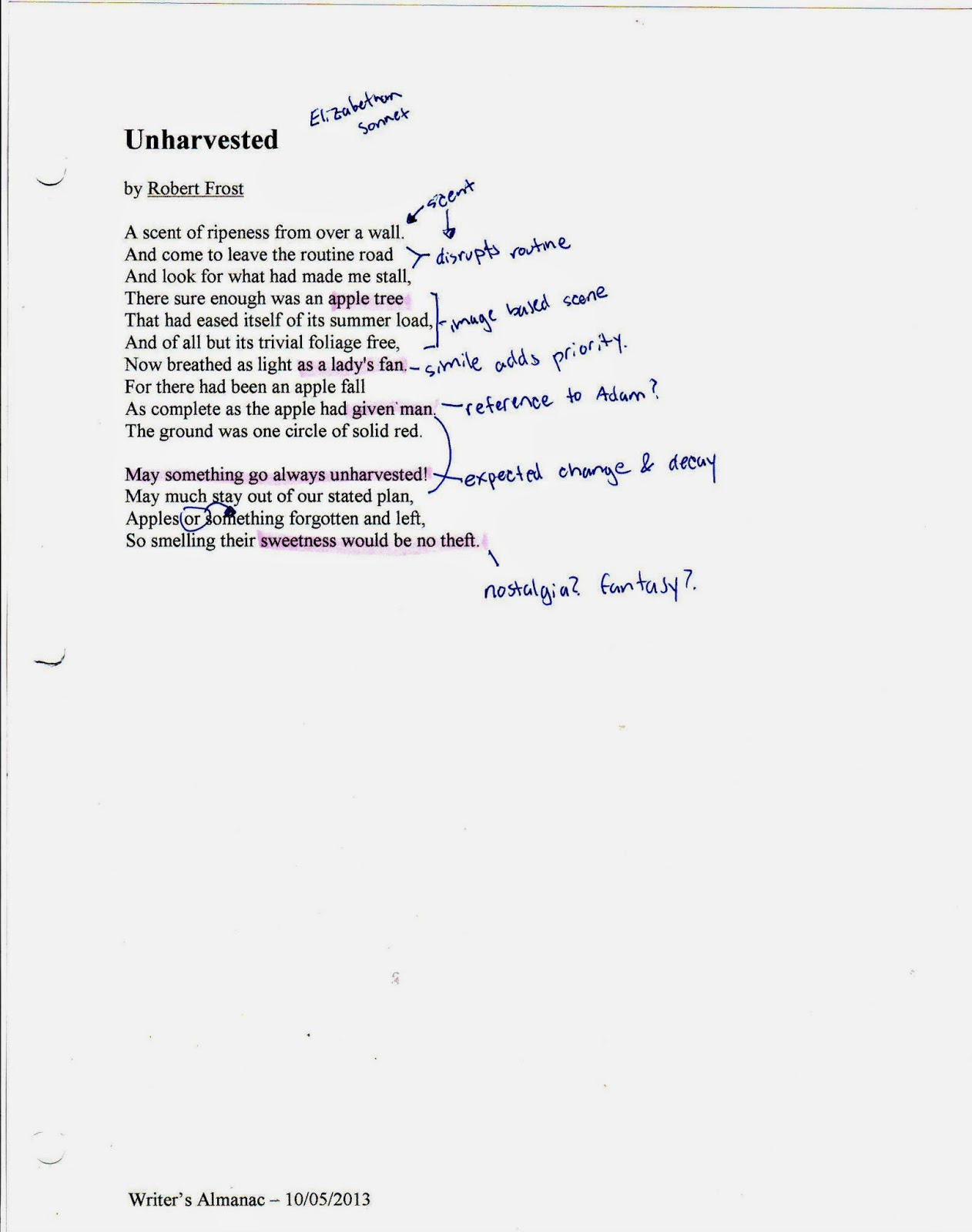 "Poetry Analysis: ""Design"" by Robert Frost Essay Sample"