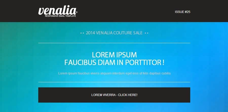 'Venalia' – Responsive And Modular Email Template