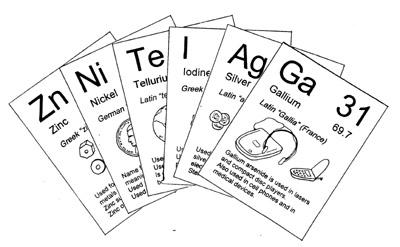 Jugando con la ciencia febrero 2017 quick six hay una tarjeta para cada elemento en la tabla peridica la tarjeta proporciona informacin bsica sobre el elemento incluyendo como se urtaz Gallery