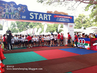 Lets get ready, 100plus passion run kids dash