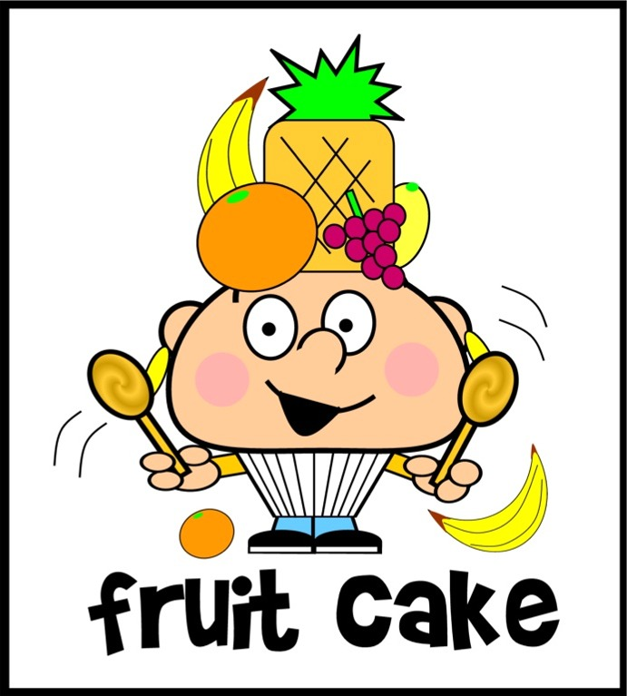 fruit cake cartoon