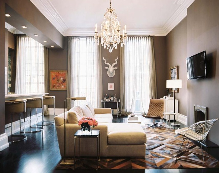 Living Rooms with Taupe Walls