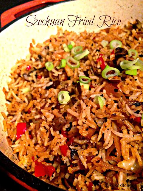 Schezwan Fried Rice  Sichuan / Szechuan / Schezwan Cuisine | Kukskitchen