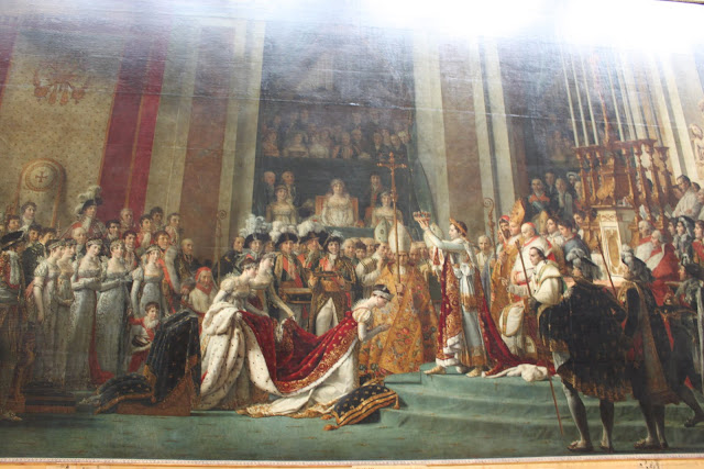 The consecration of the Emperor Napoleon I in Lourve Museum in Paris, France