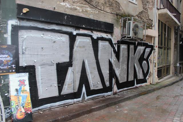 Tank graffiti Taksim Tünel