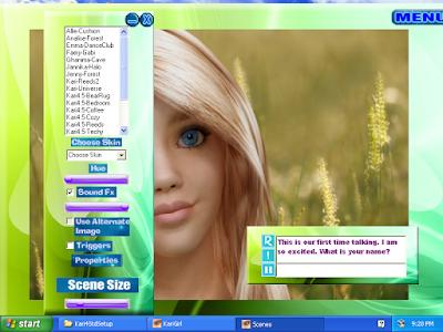 kari dengan scene dan avatar