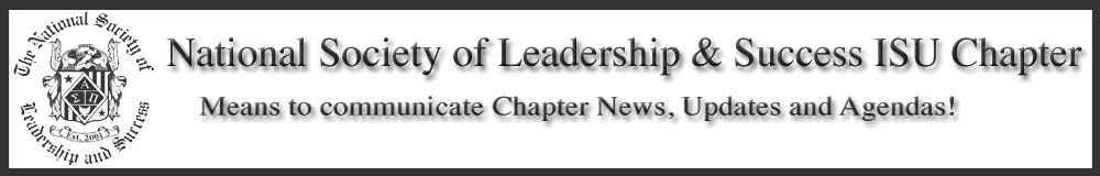 National Society of Leadership & Success ISU Chapter