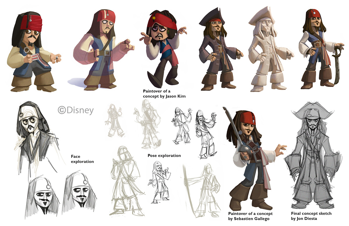 Character Design Evolution : Sam s tasty art infinity captain jack sparrow