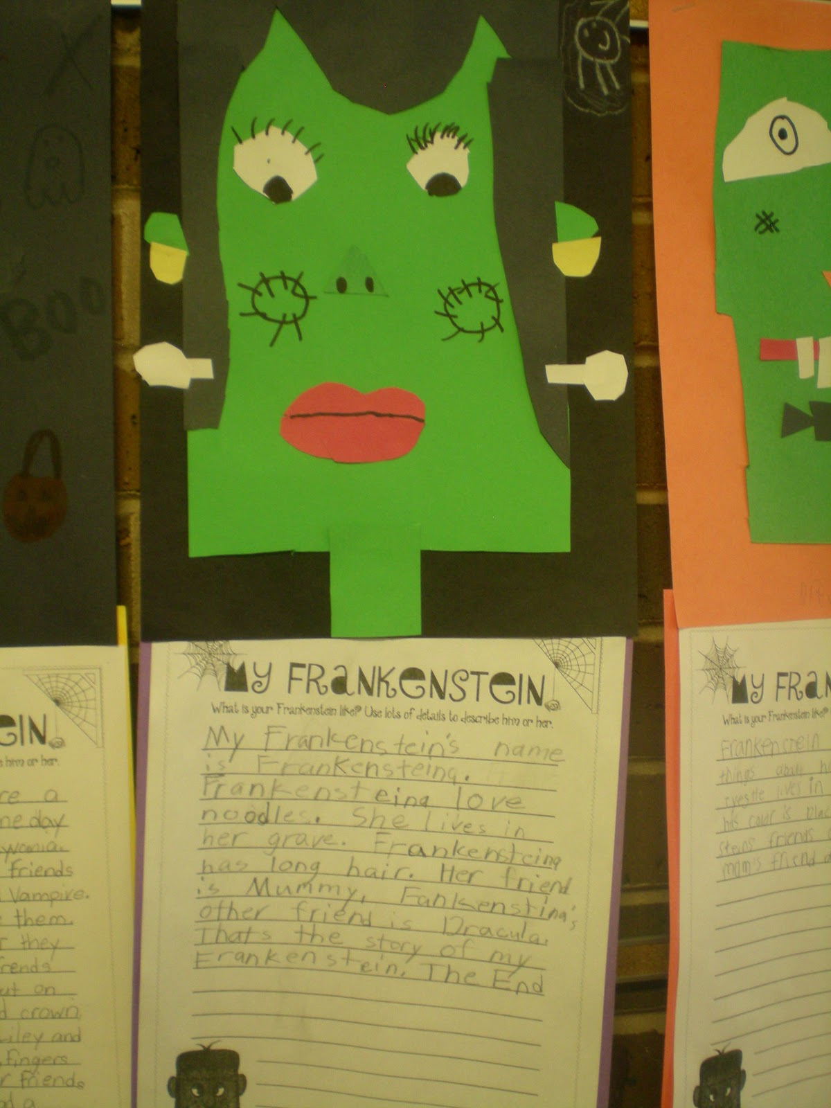 third grade love ~~frankenstein writing bies~~ thursday 11 2012