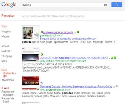 pesquisar gostosa no google