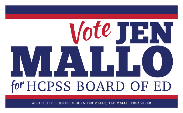Jen Mallo for Howard County Board of Education