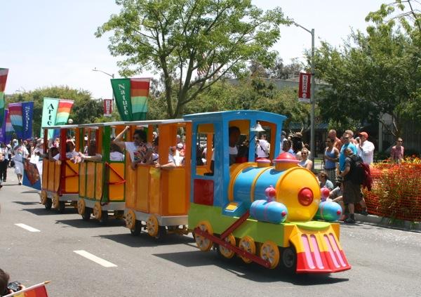 LA Pride Parade train 2013