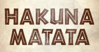Imagen con letras africanas : Hakuna Matata