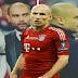 Robben se mostrou desapontado com a saída de Guardiola do Bayern