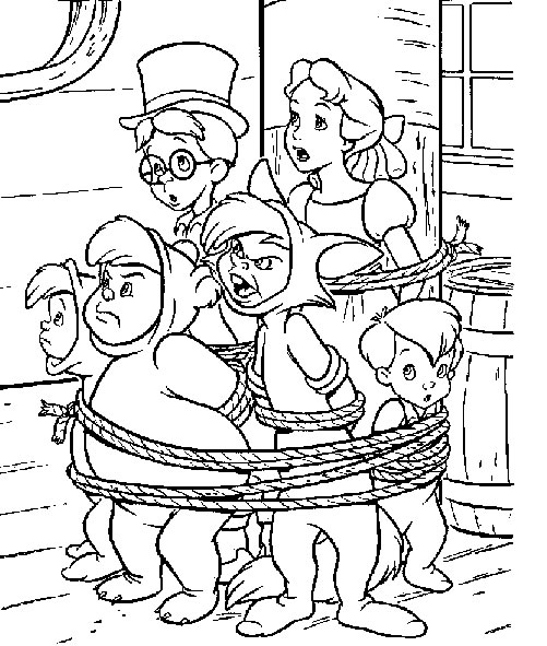 peter pan coloring pages - photo#31