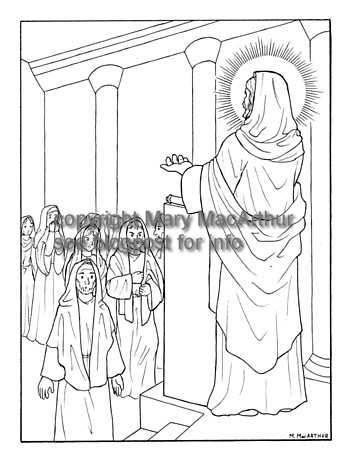 luminous mysteries coloring pages - photo#17