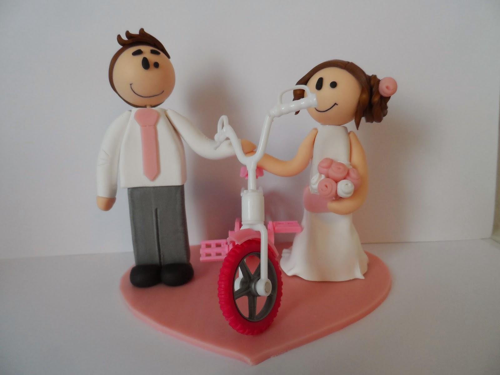 Drôle de patouilleuse Figurines de mariage pour pièce