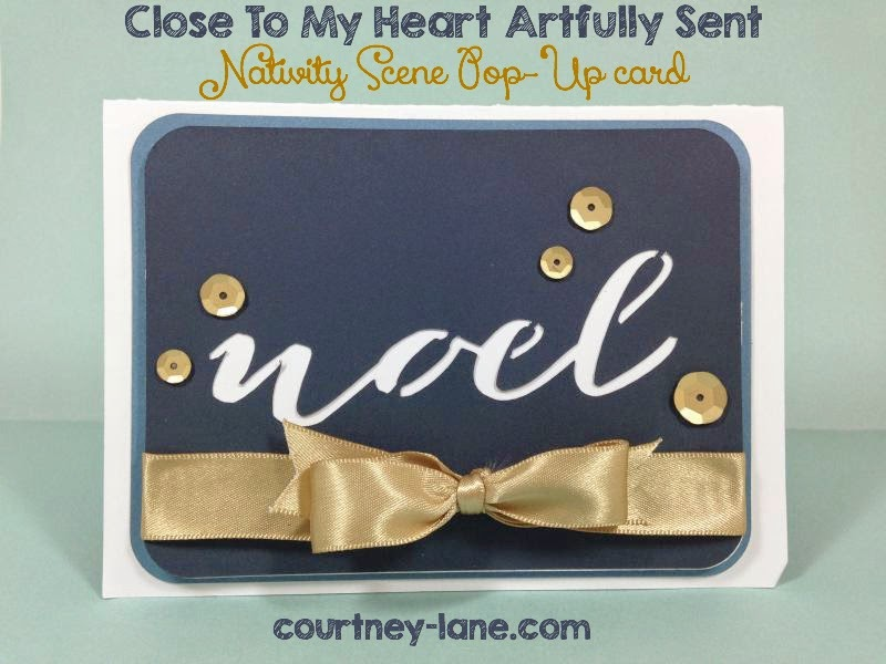 Close To My Heart Artfully Sent Cricut Cartridge Nativity Scene Pop-Up card