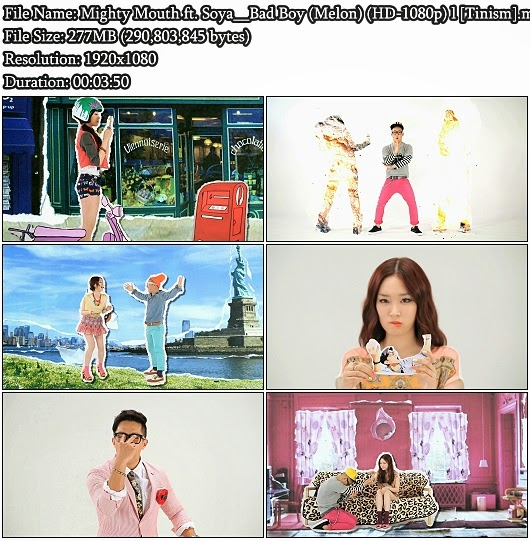 Download MV Mighty Mouth (마이티 마우스) ft. Soya (소야) - Bad Boy (나쁜놈) (Melon Full HD 1080p)