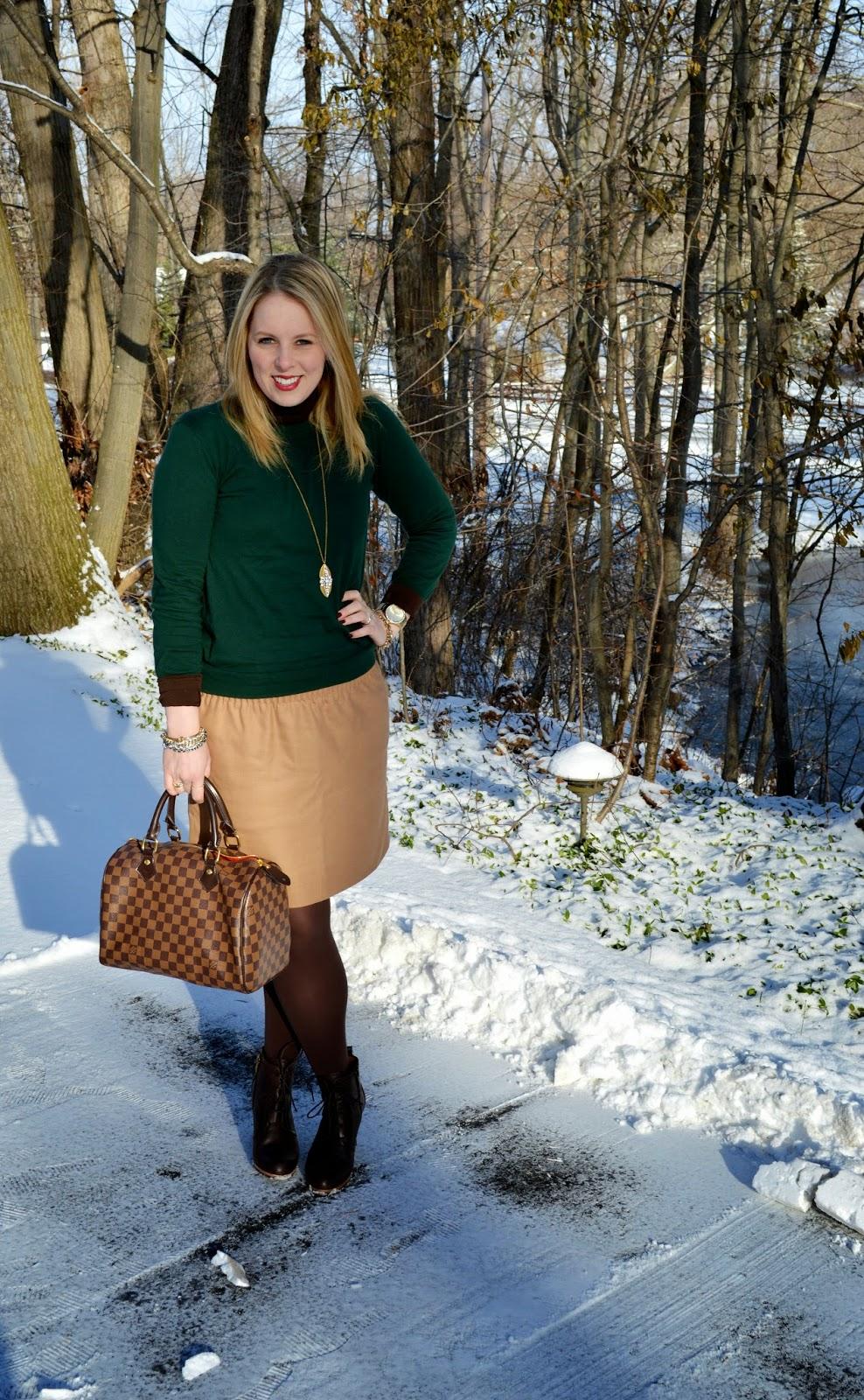 fall-sweater-skirt-look