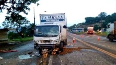 acidente próximo ao trevo de Congonhas