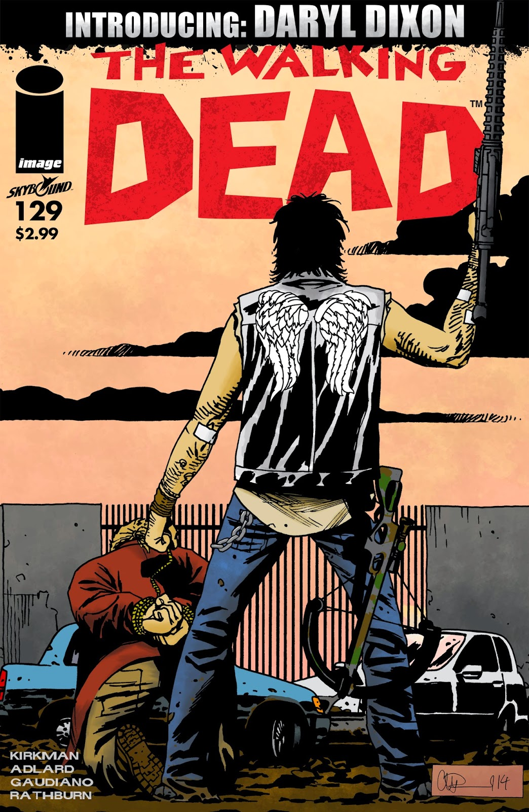 portada falsa del nº 129 de The Walking Dead