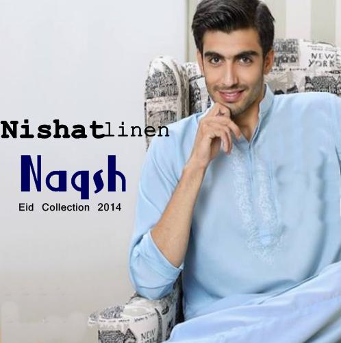 Nishatlinen Naqsh Eid Kurta 2014