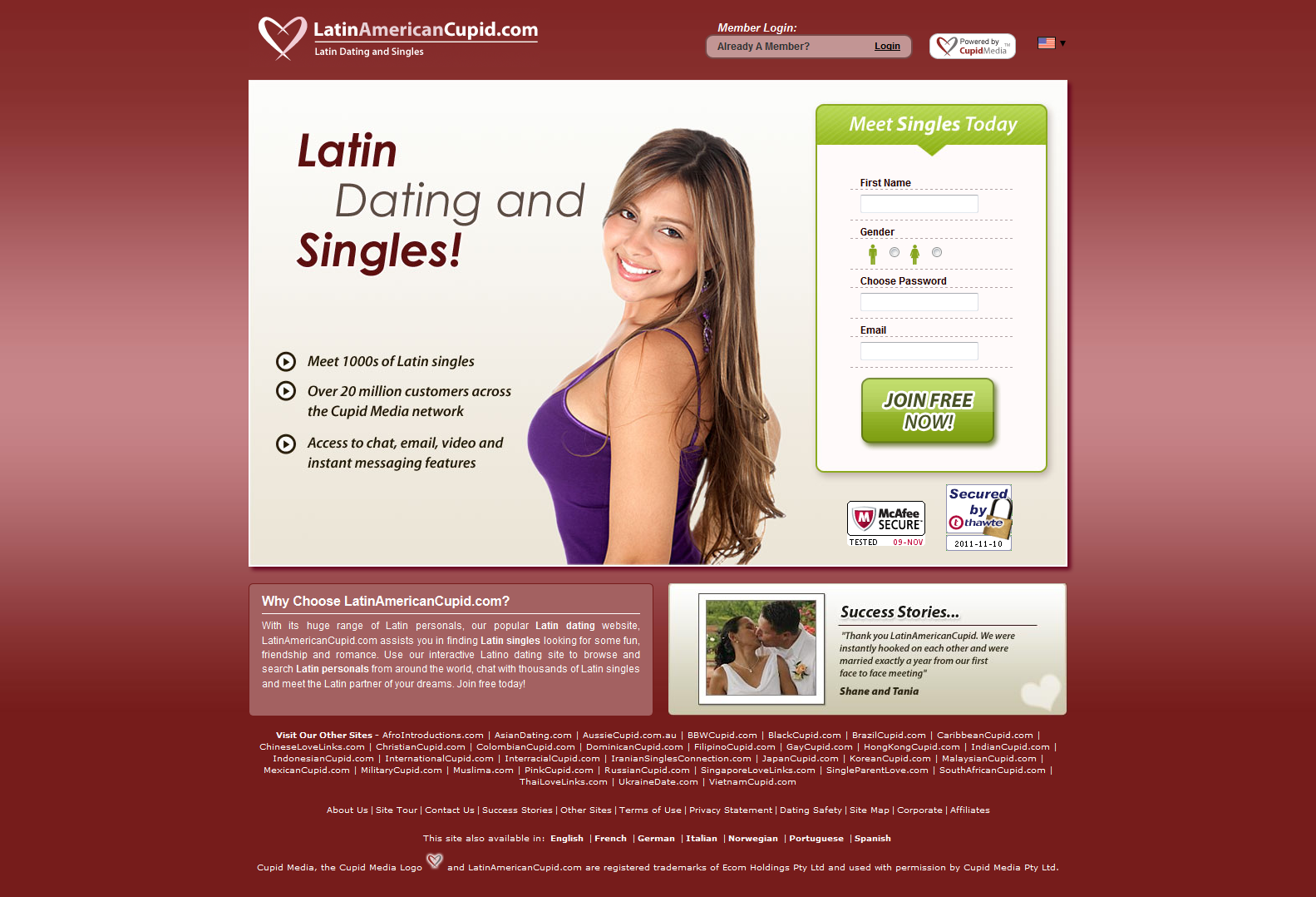 Dating site with cupid in the name