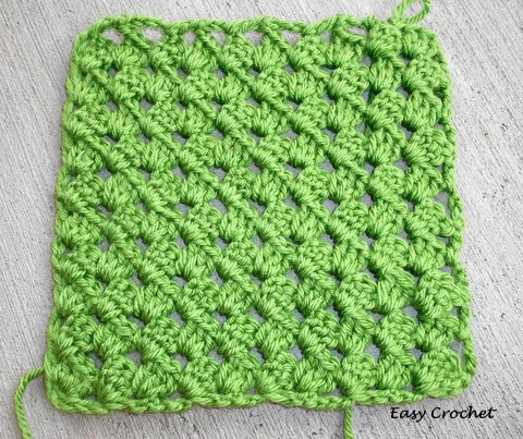 Crochet Pattern Diagonal Afghan : Easy Crochet Pattern: Diagonal Granny Stripe Afghan